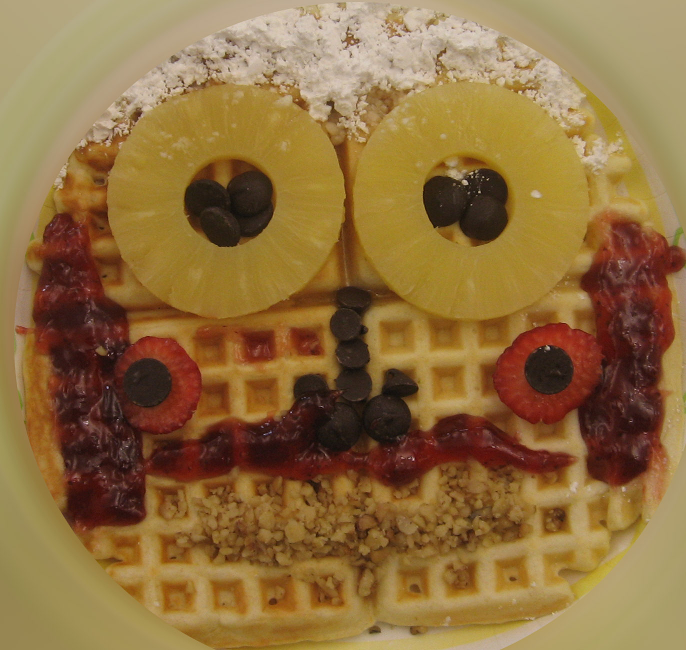 Flea fair waffle faces pre thanksgiving for Is waffle house open on thanksgiving