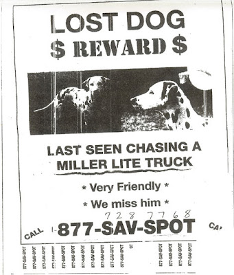 Miller beer lost dalmatian ad campaign