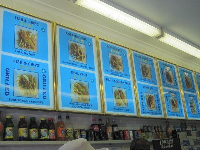 Manly Fish Cafe Menu