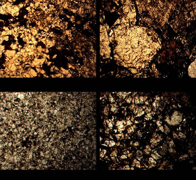 Sezioni dei campioni di roccia - Saxum 2008
