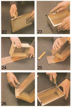 artesan as en metal caja forrada en cobre cincelado