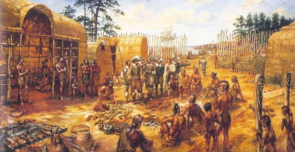 Trade with the Powhatan Indians
