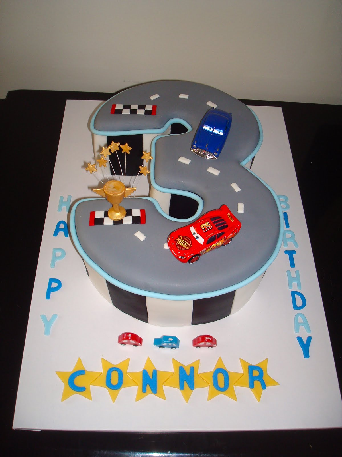 Lyn s Cake Art: Number 3 Race Track