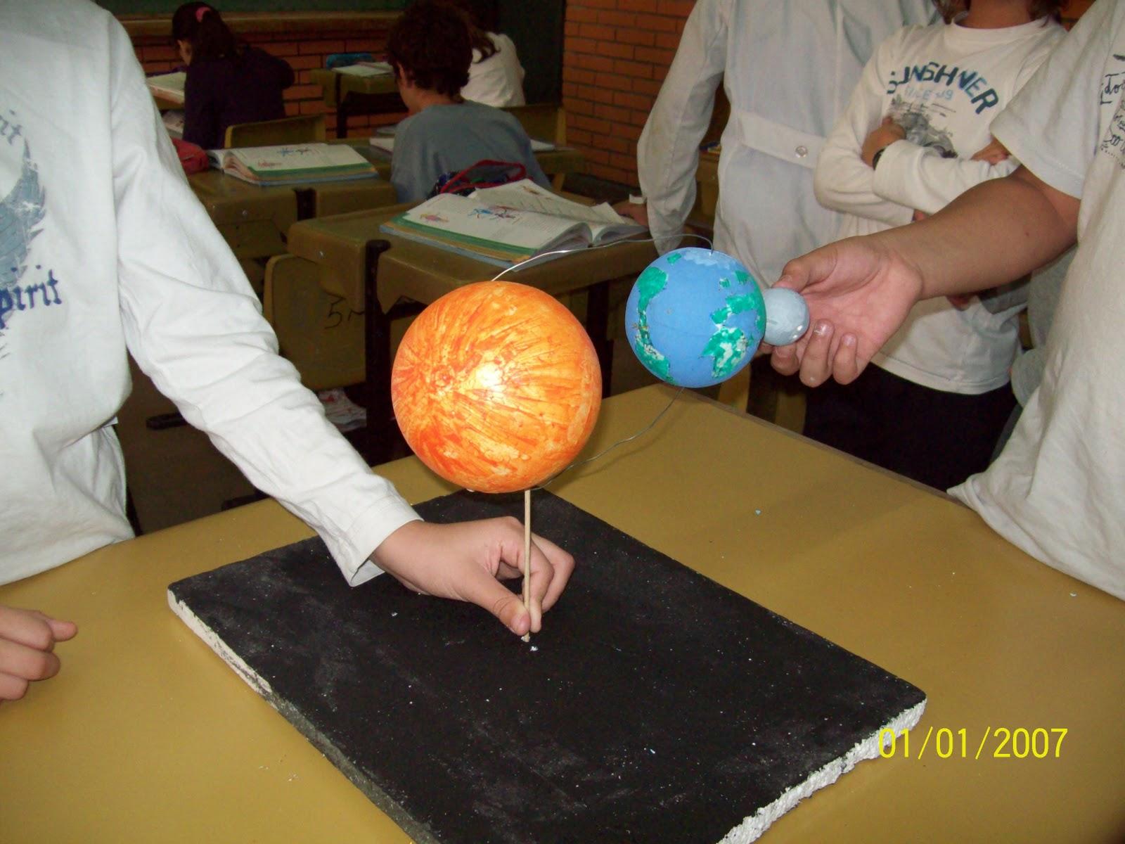 solar hicimos maquetas mostrando los movimientos de rotacion de