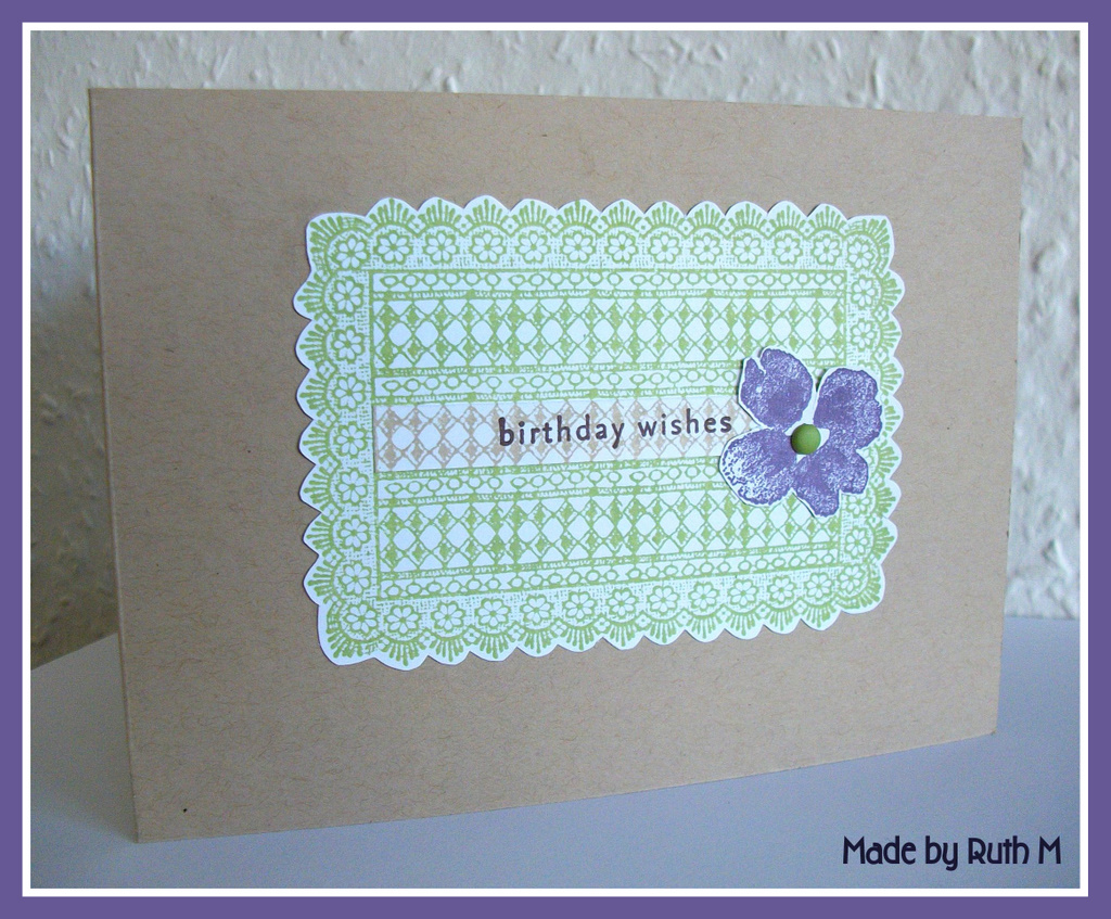 Rectangle Birthday Cakes With Flowers Stamps: hero arts rectangle