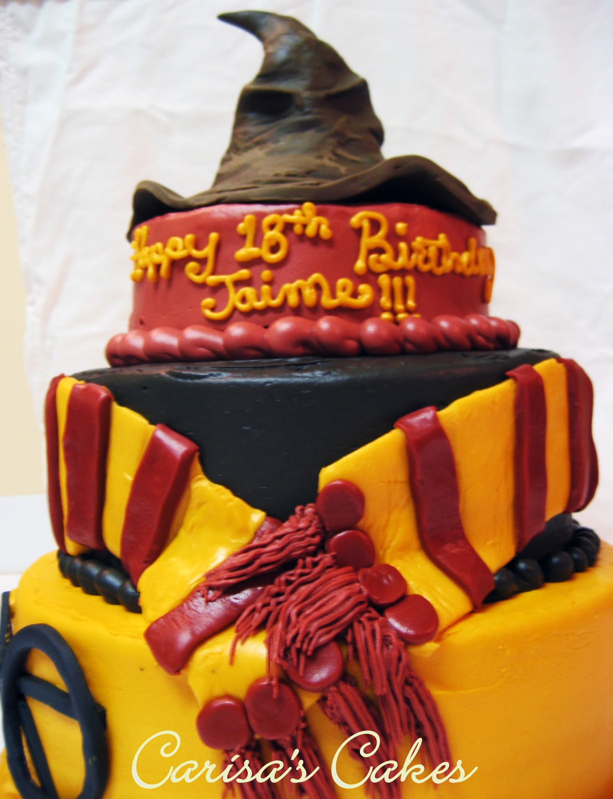 Carisas Cakes 3 Tiered Harry Potter Birthday Cake