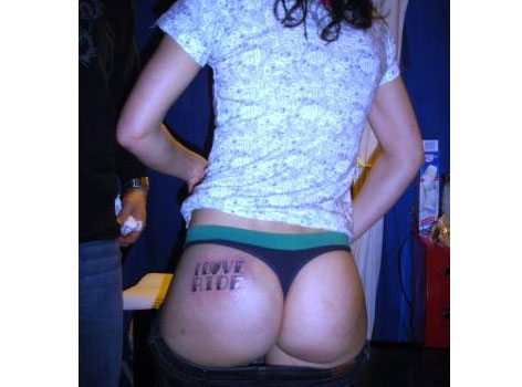 Enchanted Ass Tattoo. It's those crazy guys at Ride snowboards again giving