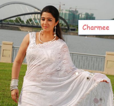 Charme In White Saree