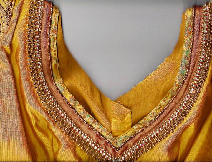Banarasi Silk Embroidery Designer Blouses Latest Gallery Saree
