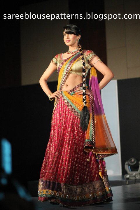 Half Saree Designers in Hyderabad http://www.celebritysaree.com/2010/11/designer-half-saree-with-nice-back-neck.html