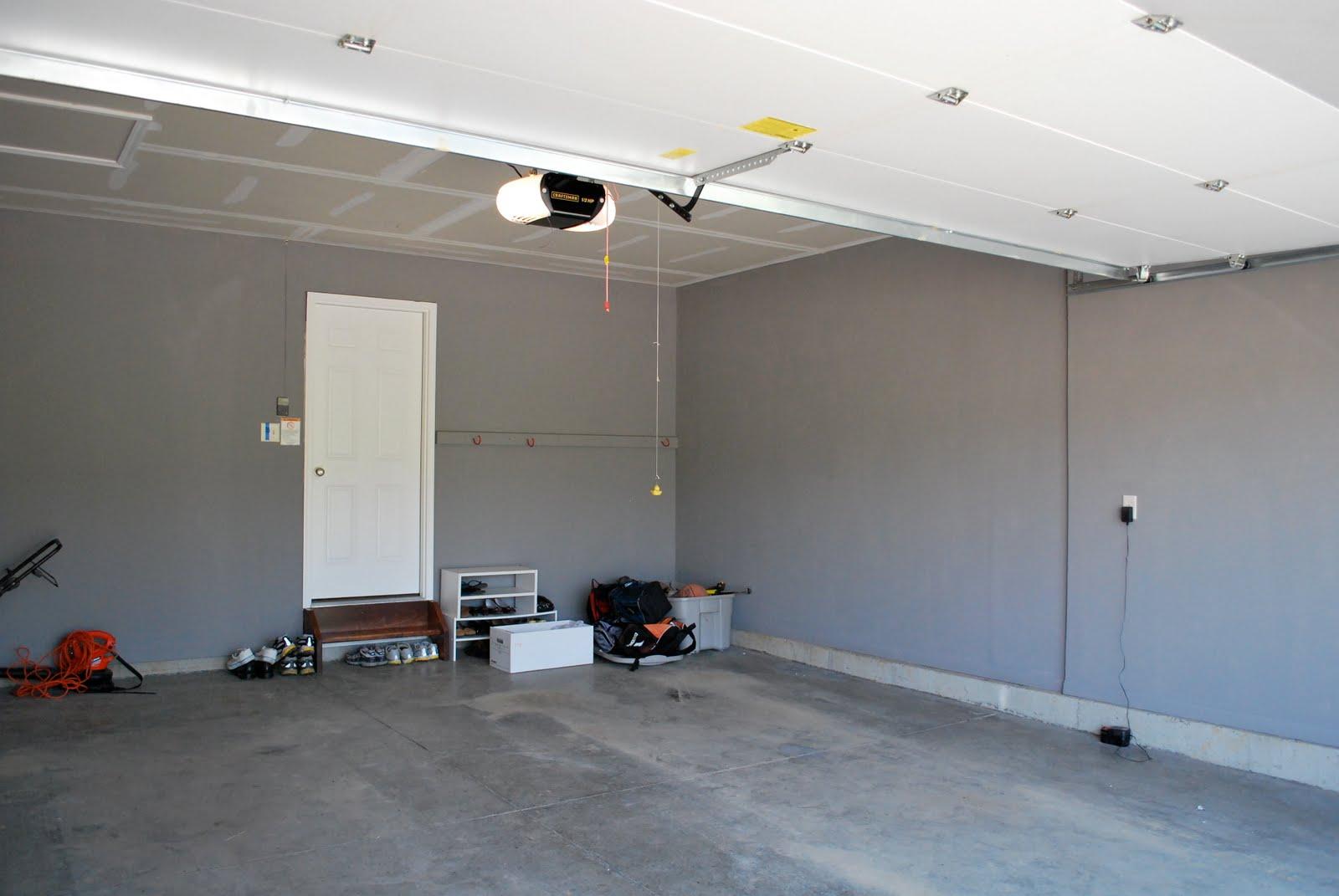 Gray Painted Garage Walls