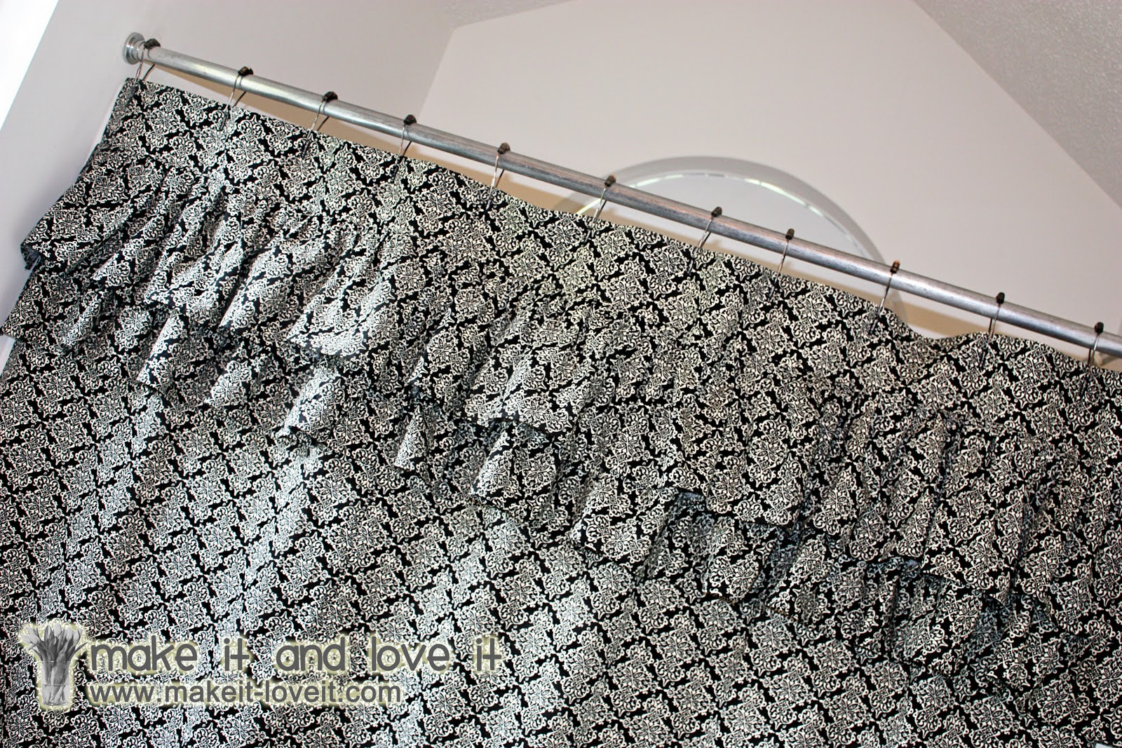 Decorate My Home, Part 17 – Ruffled Shower Curtain | Make It and ...