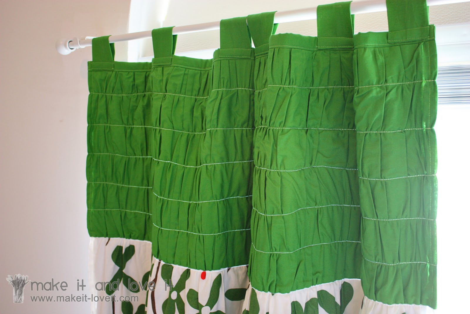 Gathered curtains - Decorate My Home Part 20 Gathered Top Panel Curtains With Blackout Lining