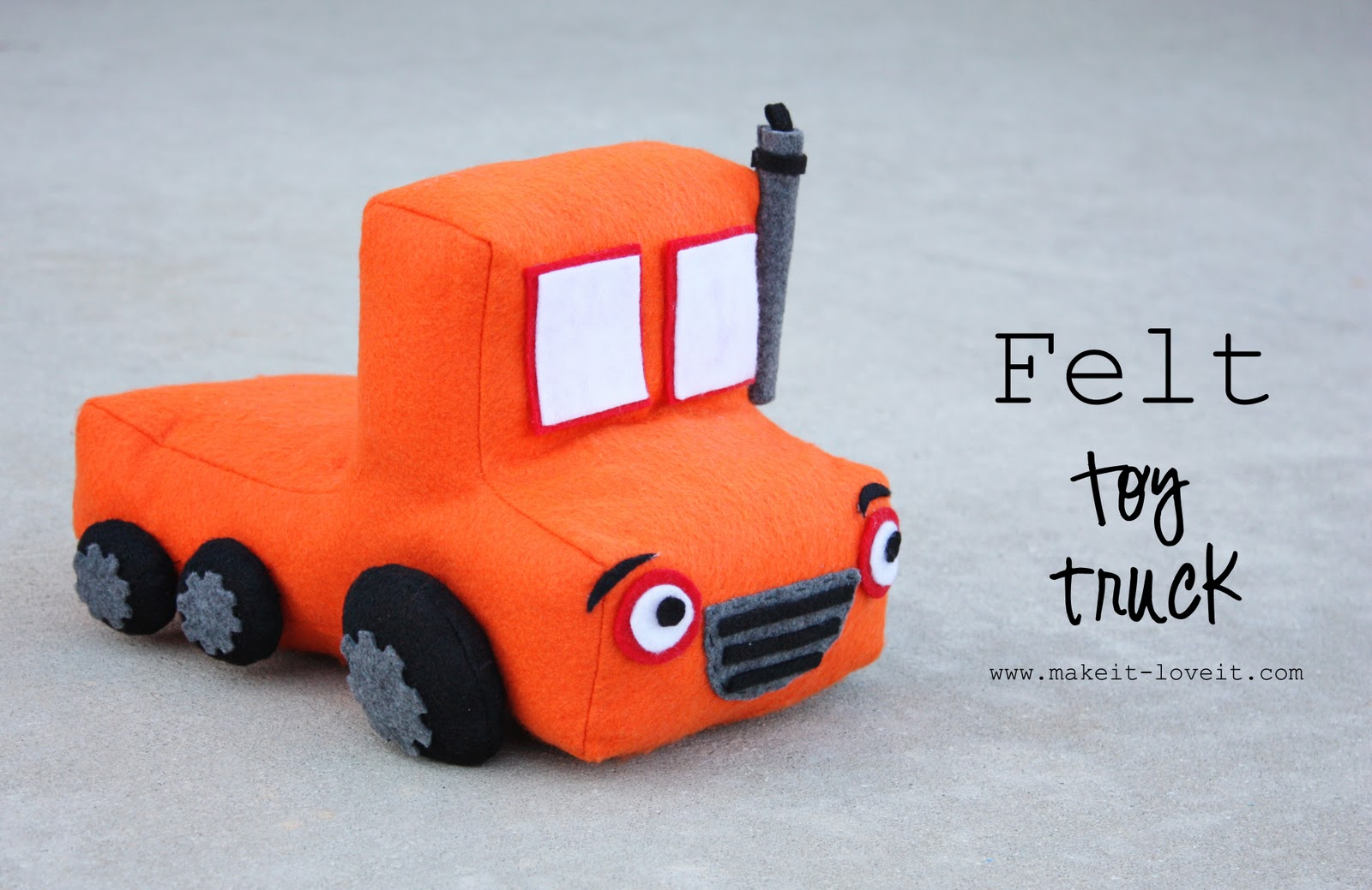 Toy Trucks For Boys : Felt toy truck little boy gift idea make it and love