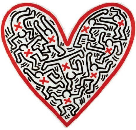 Alice au pays des arts heart galerie laurent strouk Carrelage keith haring