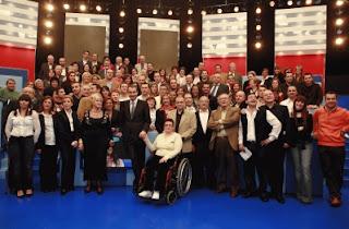 El Presidente, en la foto de familia con los ciudadanos que le preguntaron