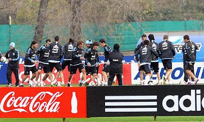 entrenamiento argentina para sudafrica 2010
