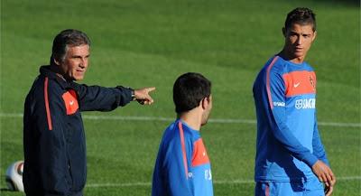 carlos queiroz, entrenador de portugal en sudafrica 2010
