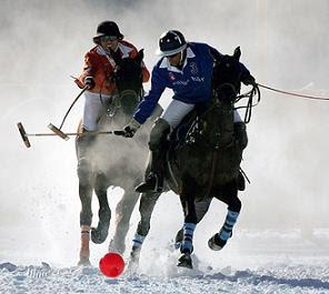 turismo exótico en argentina: polo en la nieve