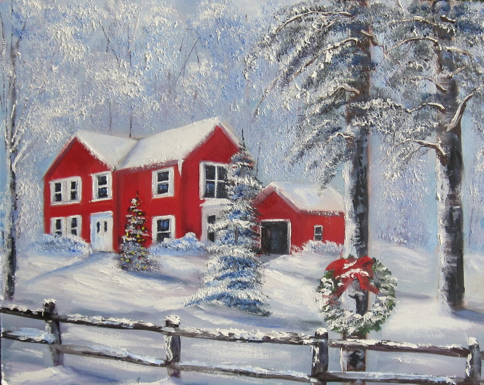 Davis Galleries Landscape Art Christmas In Connecticut