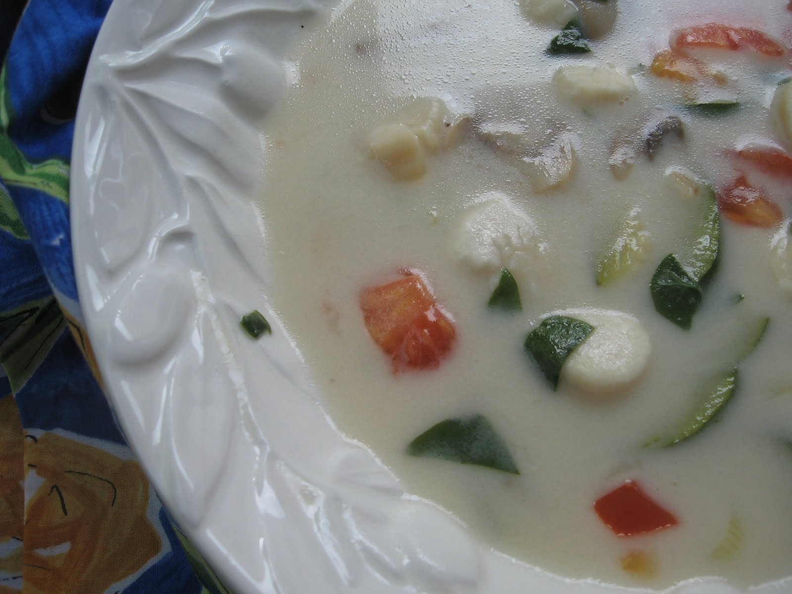 Reckless Tarragon: Asian Scallop Soup with Ginger, Coconut and Lime