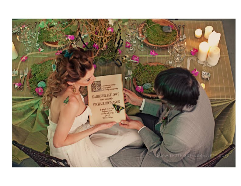 The Inspiration board for you shoot was an Enchanted Forest Wedding