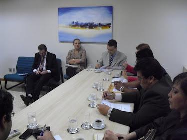 Reunião no Tribunal de Justica - dia 24/09/2010