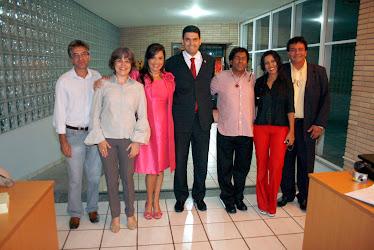 A presença do presidente da OAB/MS, Dr. Leonardo Avelino Duarte, junto a CEIA/OAB/MS