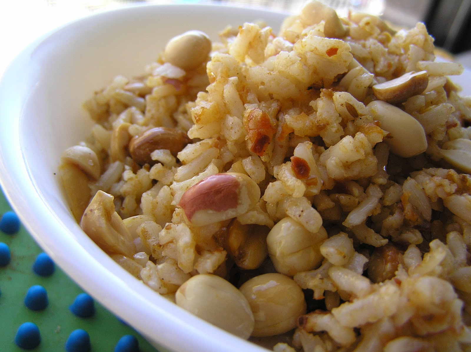 rice peanuts and roasted cumin powder mix everything well and check ...