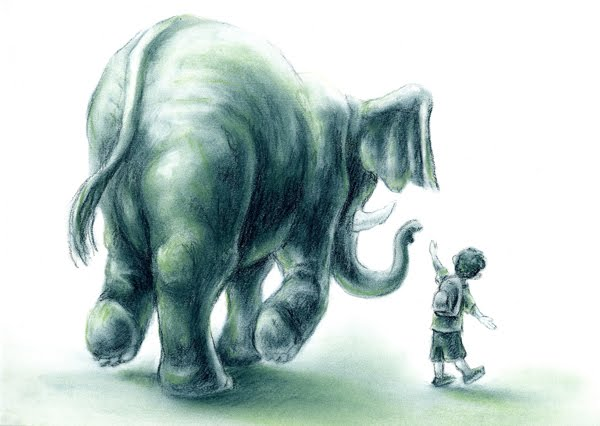 elefante e bambino