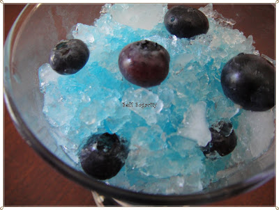 Blueberry on Blue Shaved Ice