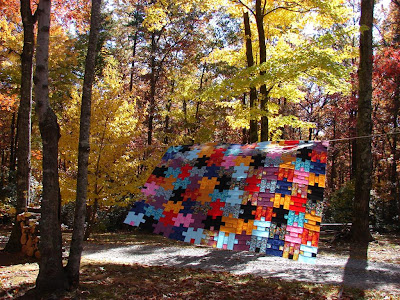 airing out the quilt