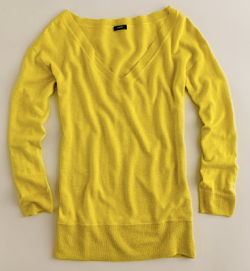 linen v-neck sweater. J.Crew Silk Linen V-Neck Tee