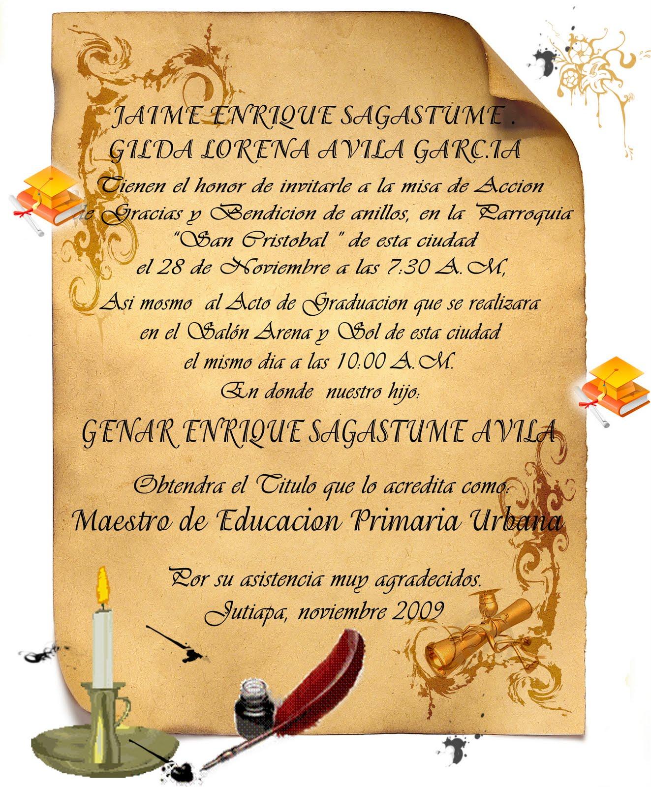 Pin 007 Invitaciones Para Graduaciones De La Graduacion on Pinterest