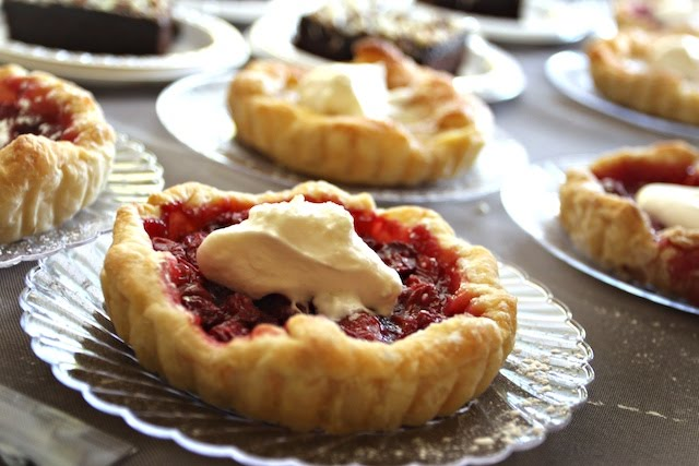Cherry & Pear Tarts