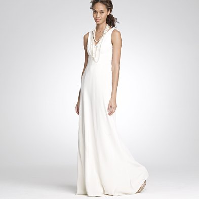 J Crew Has Been A Creative Force That Evolved To Include Some Chic Options Like This Simple White Sophia Gown