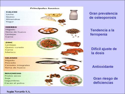 Alimentaci n equilibrada valoraci n de minerales - Alimentos ricos en magnesio y zinc ...