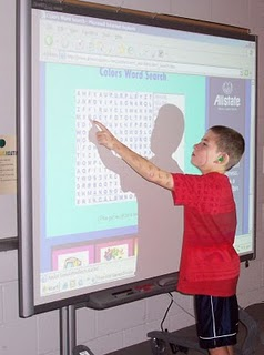 Child with Smartboard
