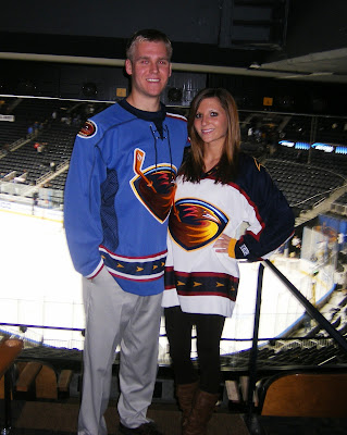 Stuart and Leigh at Atlanta Thrashers Hockey game