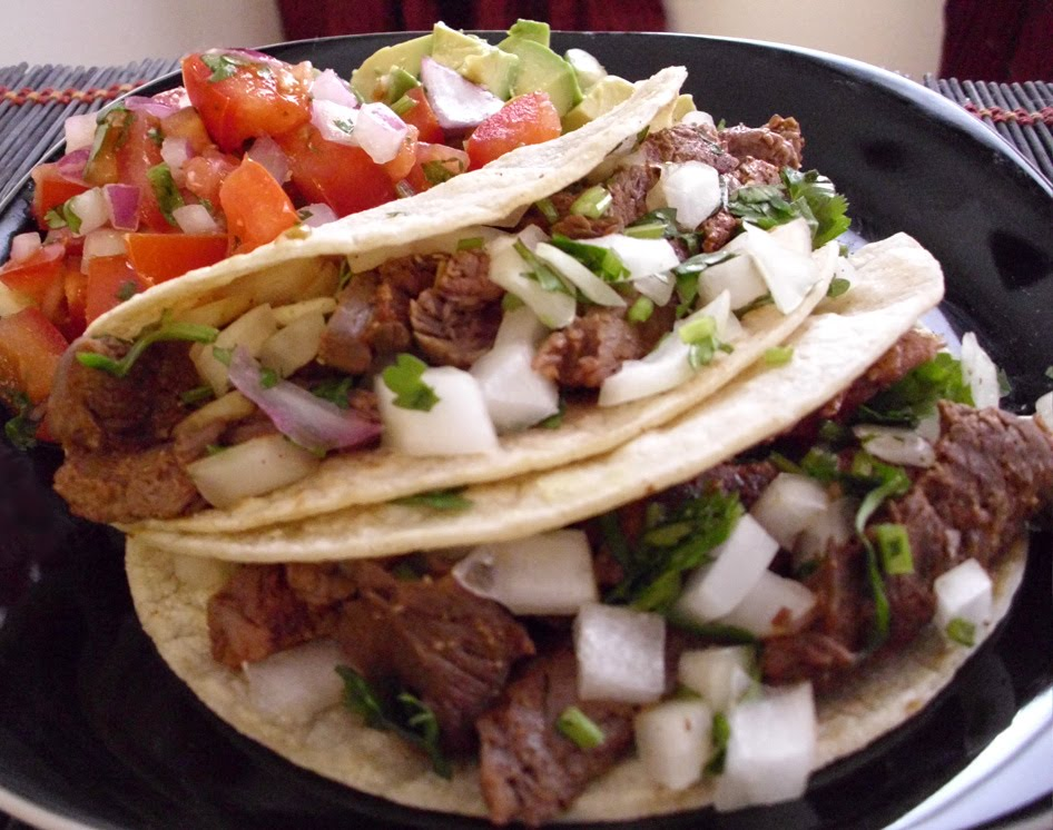 soft tacos steak steak taco