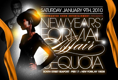 New Years Formal Affair - Saturday 9th Jan 2010 Pier 17, New York, NY