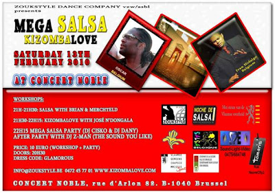 Mega Salsa and Kizomba Love @ Concert Noble, Brussel, Belguique