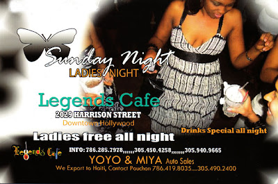 Sunday Night, Ladies Night @ Legends Cafe - Downtown Hollywood