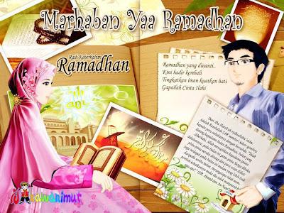 GAMBAR KARTUN ISLAMI RamadhanDengan Kata Mutiara