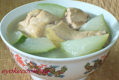 Simply delicious easy cooking winter melon with kampung for How long to boil a whole chicken for soup