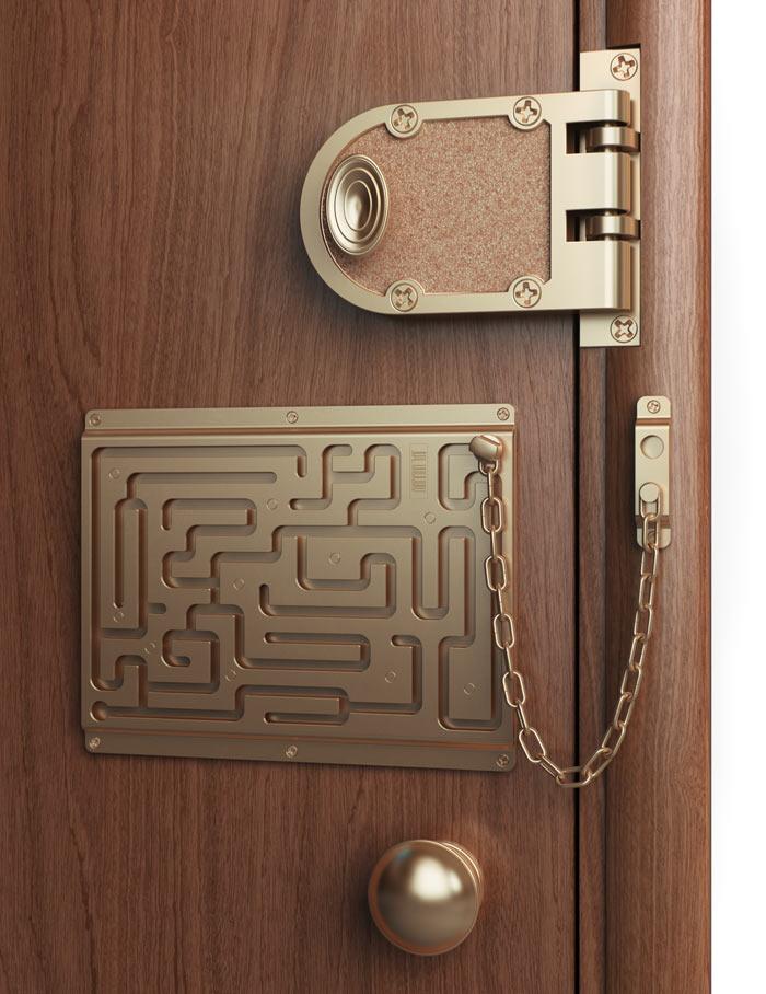 Как сделать чтобы дверь была с кодом