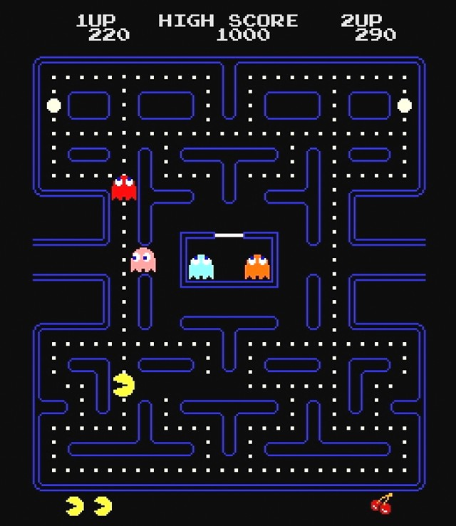 video games kid arcade games twenties pong pacman q-bert pacman