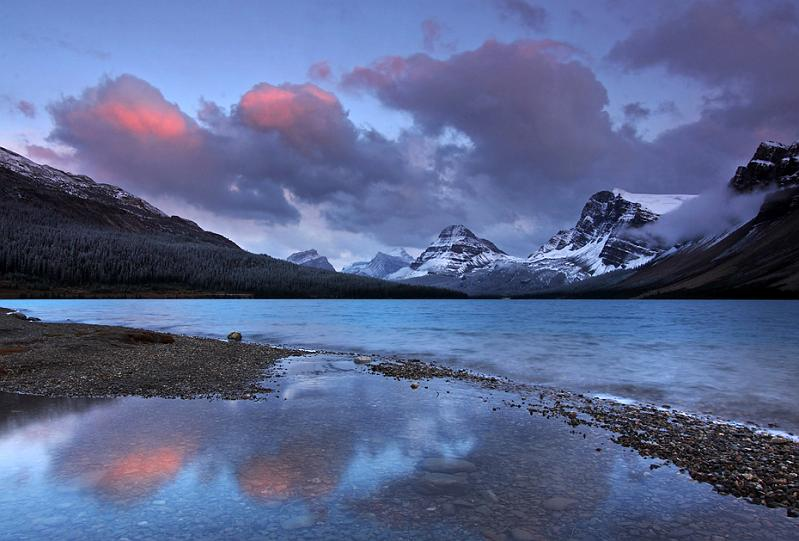 Alberta, Canada - Bow Lake Sunset
