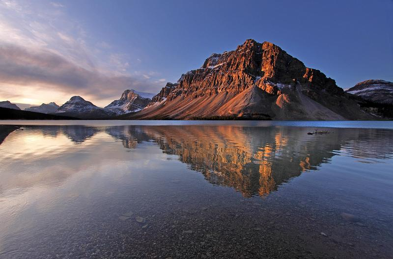Alberta, Canada - Bow Lake Sunrise