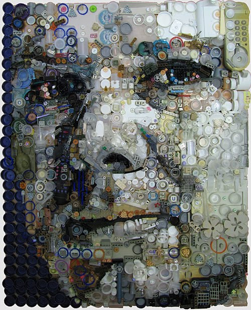 Amazing Portraits made from General Trash by Zac Freeman
